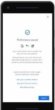 谷歌现在将允许您自动删除位置和活动历史记录