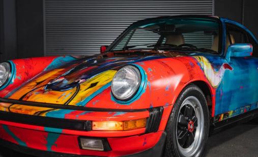 这款色彩缤纷的保时捷911艺术车是独一无二的