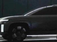 现代汽车发布了其首款电池供电的大型SUV的预告图