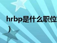 hrbp是什么职位软件开发(hrbp是什么职位)
