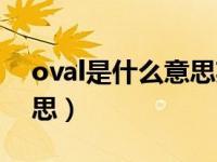 oval是什么意思英语怎么读(oval是什么意思)