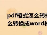 pdf格式怎么转换成word文档(pdf格式怎么转换成word格式)